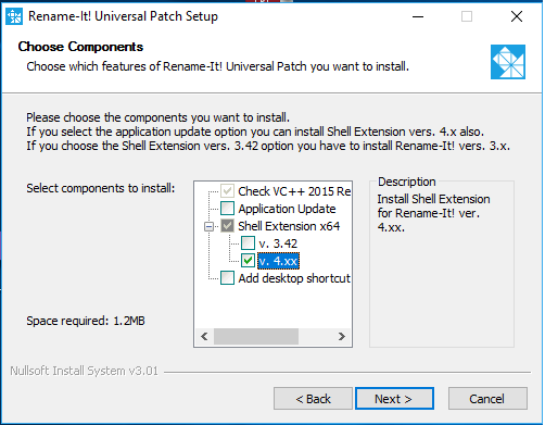 Rename-It Shell Extension vers. 4.xx install